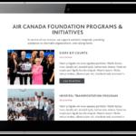 air canada foundation programes and initiatives